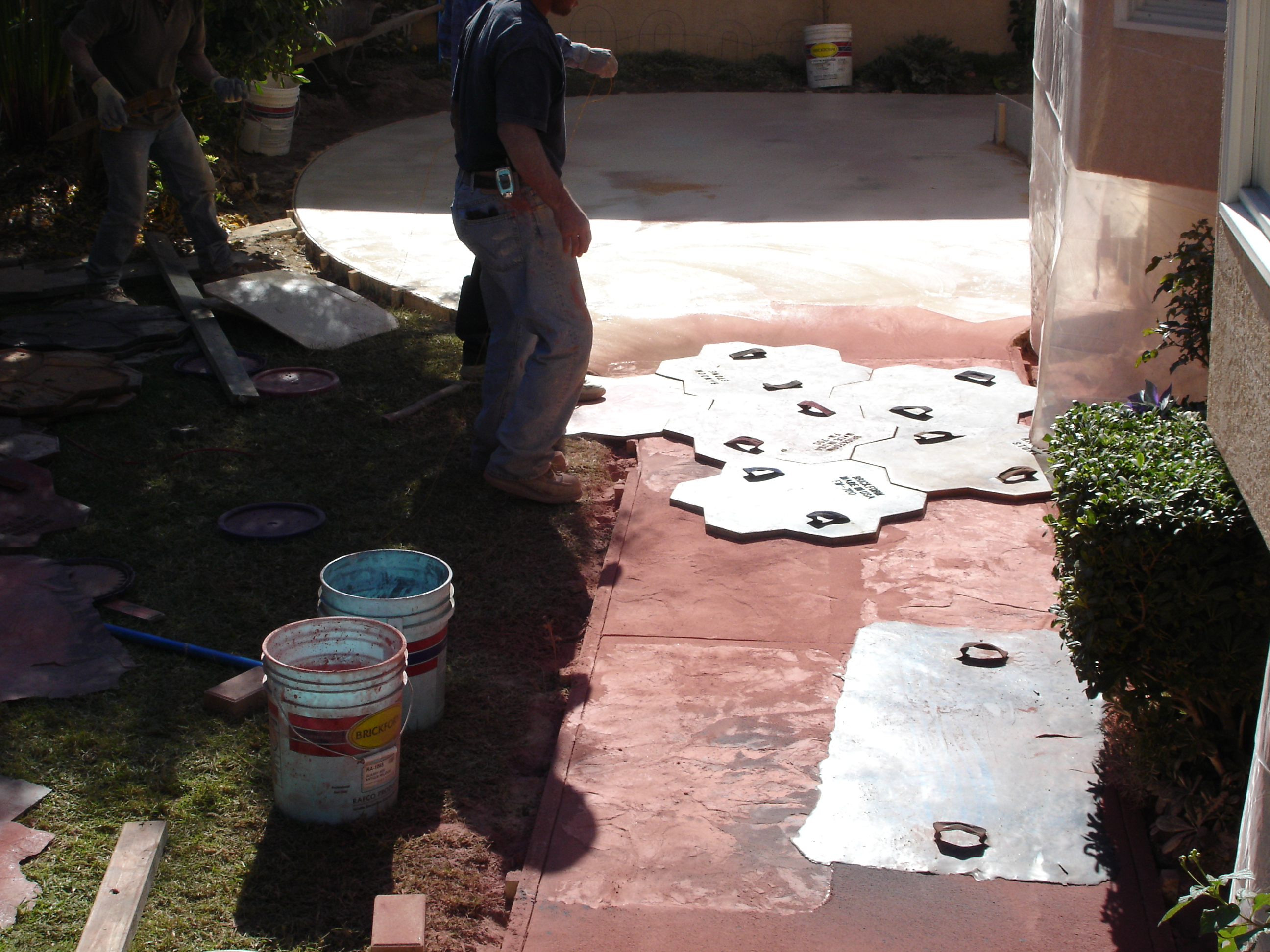 Colored stamped cement (2)